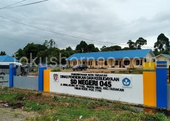 Bangunan Sekolah Baru SDN 045 Binalatung Yang Dibangun Satker PU. Poto: Ari / fokusborneo.com