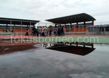 Gedung Tennis Outdoor Kota Tarakan. Poto: ari / fokusborneo.com