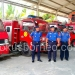 Kabid PMK Tarakan Eko P Santoso (Tengah) didampingi Jajaran PMK Saat Melihat Kondisi Mobil Fire Usia 21 Tahun (9/1). Poto: Ari / fokusborneo.com