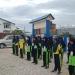 Serma Suparman memberikan pelatihan dasar Peraturan Baris Berbaris di SMP N 12 Kel.Karang anyar Kec Tarakan Barat,