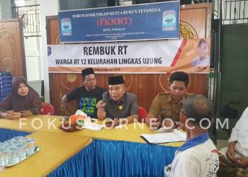 Rapat FKKRT Bersama Seluruh Ketua RT se-Kota Tarakan. Poto: Slamet / fokusborneo.com
