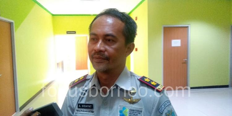 Ahmad Hidayat. Kepala KKP Tarakan, Poto : fokusborneo.com Sebelum Wabah Covid-19 di Indonesia