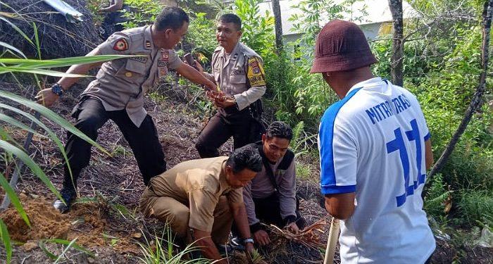 Kapolsek Tarakan Barat, Camat, Lurah dan Warga Tanam Akar Wangi di Daerah Rawan Longsor. Poto: Istimewa