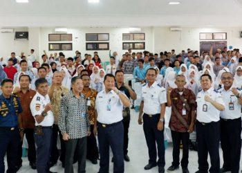 BPSDMP Sosialisasi Penerimaan Taruna Baru Perguruan Tinggi Perhubungan, di Tarakan Provinsi Kaltara. Poto: Istimewa