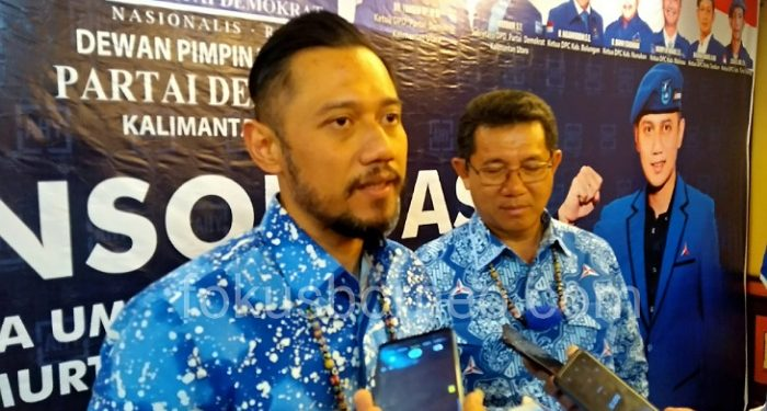 AHY Waketum DPP Demokrat dan Yansen TP Ketua DPD Demokrat Kaltara. Poto: fokusborneo.com