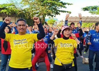 Walikota Tarakan dan Istri Ikuti Cra Free Day Tarakan. Poto: fokusborneo.com
