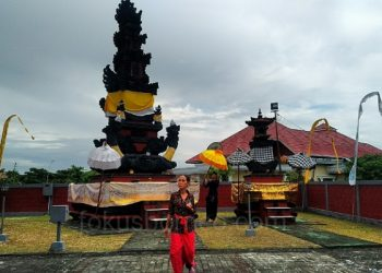 Jelang Sembahyang Galungan, Umat Hindu Lakukan Persiapan di Pura Agung Giri Jagat Nata, Tarakan, Poto: Fokusborneo com