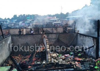 Eks Pasar Batu Yang Hangus Terbakar Beberapa Waktu Lalu. Poto: fokusborneo.com