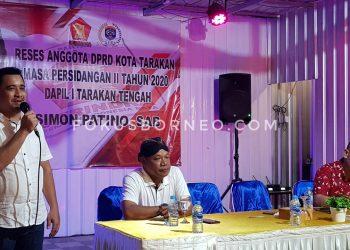 Rses Simon Patino Anggota DPRD Tarakan di Kecamatan Tarakan Tengah. Poto: fokusborneo.com