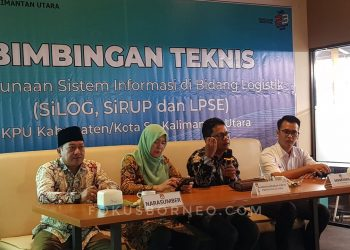 Bimtek Logistik KPU Provinsi Kaltara untuk KPU Kab/Kota. Poto: Fokusborneo.com