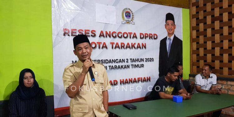 Serap Aspirasi Masyarakat, Muhammad Hanafia Undang Kaum Millenial. Poto: fokusborneo.com