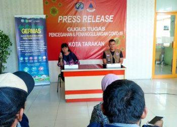 Press Release Gugus Tugas Pencegahan dan Penanggulangan Covid-19 Tarakan. poto: fokusborneo.com