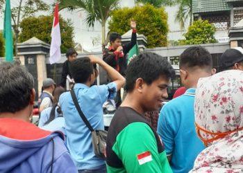 Aksi Tolak Omnibus Law di Tarakan beberapa waktu lalu.