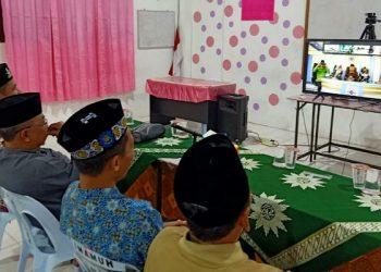 PW Muhammadiyah Kaltara sedang berkomunikasi dengan Pimpinan Pusat melalui video conference. Poto: Istimewa