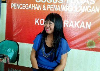dr. Devi Ika Indriarti, Jubir Tim Gugus Tugas Percepatan Penanganan Covid-19 Tarakan, Poto: fokusborneo.com
