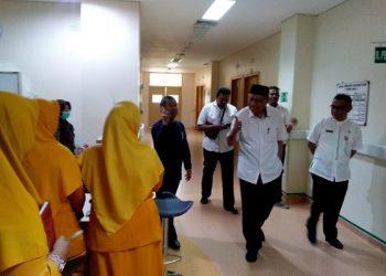 Wagub Kaltara Udin Hianggio Kunjungi RSUD Tarakan, Poto: fokusborneo.com