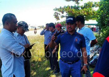 Walikota Tarakan Khairul Tinjau Pembangunan Pantai Amal. Poto: fokusborneo.com
