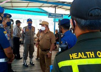 PSBB Dimulai, Walikota Pantau Pelabuhan Rakyat, poto: fokusborneo.com