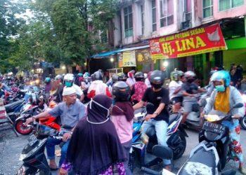 Aktifitas Masyarakat di Pasar Gusher Tarakan Belum Lama ini. Poto: Doc Fokusborneo.com