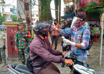 Simulasi New Normal di Pasar Gusher Tarakan, Poto: fokusborneo.com