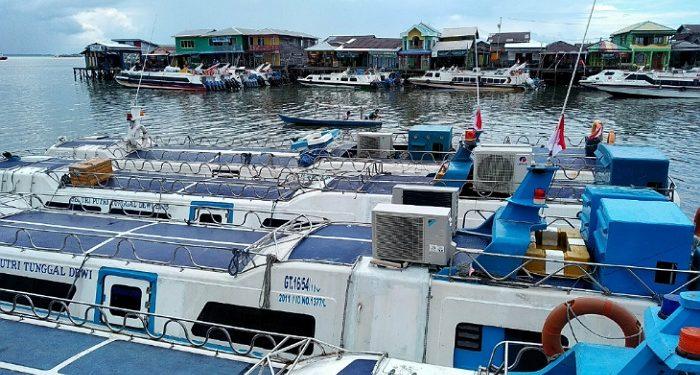 Speedboat di Pelabuhan Tengkayu Tarakan. Foto: Fokusborneo.com
