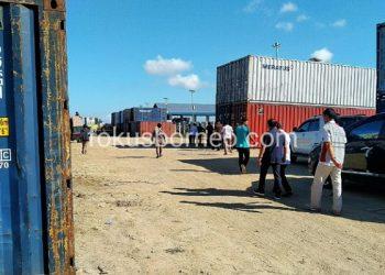 Tumpukan Peti Kemas Pelabuhan Malundung Tarakan. Poto: fokusborneo.com