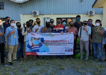 Jajaran Legal and Relation PT Pertamina EP Tarakan Field Bersama Jurnalis Tarakan. Poto: Istimewa