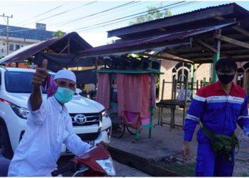 Pertamina EP Bunyu Field Bagikan Ribuan Masker Kain Kepada Masyarakat. Poto: Pertamina EP