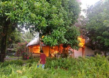 Rumah Terbakar di RT 20 Juata laut. Poto: Istimewa