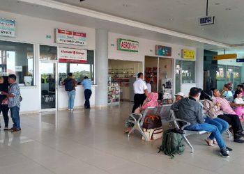 Pelayanan Counter Maskapai di Bandara Internasional Juwata Tarakan Sebelum Pandemi Covid-19. Foto: fokusborneo.com