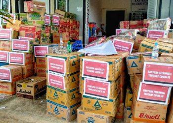 Bantuan Telkomsel Tanggap Covid-19 di Kaltara. Foto: Istimewa