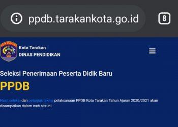 Website PPDB Tarakan.