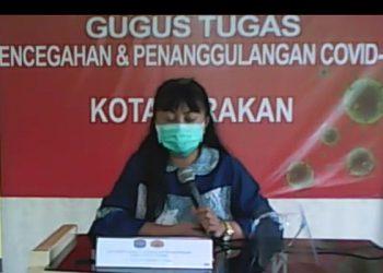 Jubir Satgas Covid-19 Kota Tarakan dr. Devi Ika Indriarti