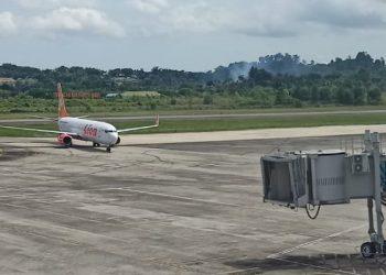Lion Air Tiba Di Bandara Internasional Juwata Tarakan. foto: fokusborneo.com