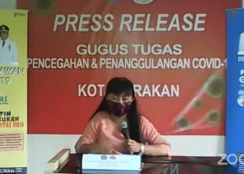 dr. Devi Ika Indriarti, Jubir Gugus Tugas Tarakan.