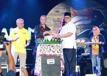 Gubernur Kaltara, Dr H Irianto Lambrie saat membuka pelaksanaan Musik Alam 2K19.Foto: Humas Pemprov Kaltara