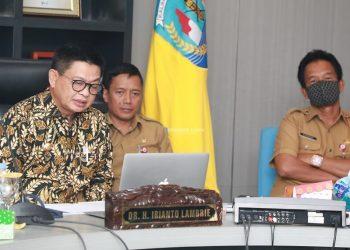 Gubernur Kaltara, Dr H Irianto Lambrie saat membuka Mubes Forum TJSP Kaltara, Selasa (23/6). Foto : Humas Pemprov Kaltara