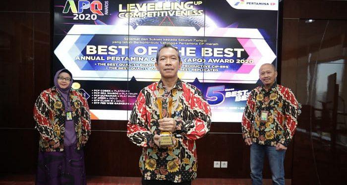 PT Pertamina EP Raih Best of The Best APQ Award 2020. foto: Istimewa/Humas PEP