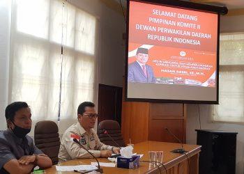 Wakil Ketua Komite II DPD RI Hasan Basri melakukan kunker ke Kantor DPRD Kota Tarakan, Selasa (28/7). Foto : Fokusborneo.com