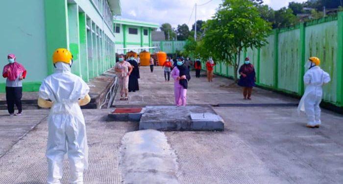 Kegiatan Senam Pagi Pasien Covid-19 di RSU Kota Tarakan, Foto: Istimewa