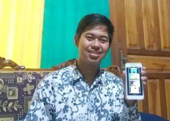 Rachmat Puja Safitransyah, pelajar SMA Negeri 1 Tanjung Palas yang berhasil menjadi juara ke-3 Cerdas Cermat Wawasan Kebangsaan Online se-Indonesia pada 29 Juni lalu. Foto : Humas Provinsi Kaltara