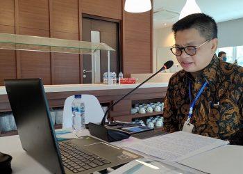 Gubernur Kaltara, Dr H Irianto Lambrie saat menjadi narasumber seminar nasional secara daring gelaran Institut Bumi Borneo, Sabtu (4/7). Foto : Humas Provinsi Kaltara