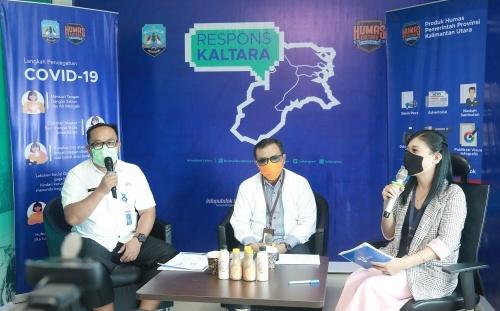 Respons Kaltara edisi ke-88 membahas perkembangan sektor UMKM di era pandemi, Rabu (29/7).Foto : Humas Pemprov Kaltara