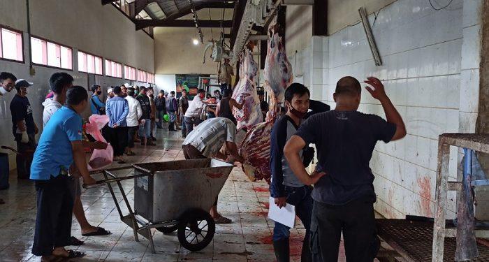 Suasana Pemotongan Hewan Kurban di RPH Jalan Aki Babu Tarakan. Foto:fokusborneo.com