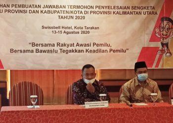 Bawaslu Kaltara Gelar Pelatihan Pbuatan Jawaban Sengketa Kepada KPU Kab/Kota. Foto: fokusborneo.com