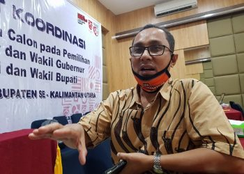 Anggota KPU Provinsi Kaltara Teguh Dwi Subagyo. Foto : Fokusborneo.com