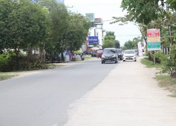 Kondisi Jalan Durian pasca pelebaran pada 2018 dan 2019 menggunakan APBD Kaltara. Foto: Humas Pemprov Kaltara