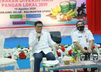 Gubernur Kaltara Dr H Irianto Lambrie saatmeluncurkan Gerakan Diversifikasi Panganyang digagas oleh DPKP Kaltara.Foto: Humas Pemprov Kaltara