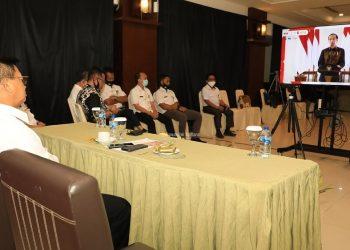 Gubernur Kaltara, Dr H Irianto Lambrie mengikuti ANPK yang digelar secara virtual oleh KPK RI. Foto: Humas Pemprov Kaltara