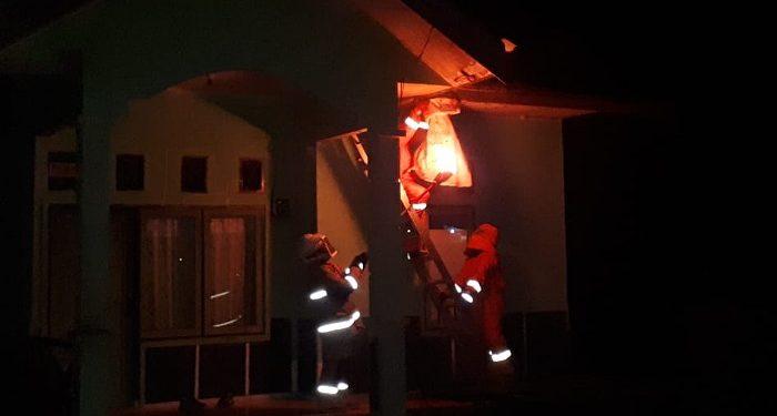 Personil Damkar dan Penyelamatan Tarakan Evakuasi Tawon Ndas Kuning di Rumah Warga. Foto: Istimewa/Damkar Tarakan